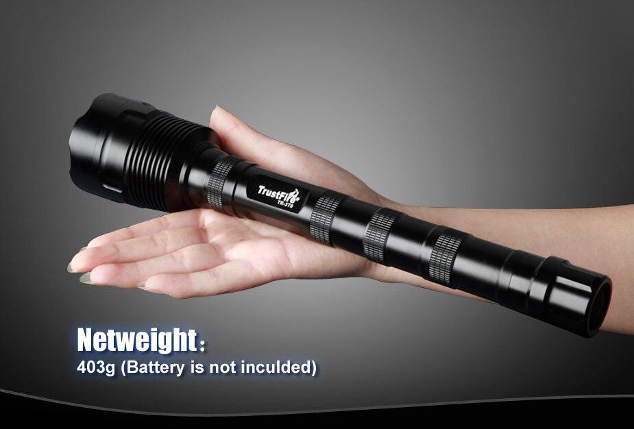 все цены на Free Shipping TrustFire TR-3T6 XM-L T6 5-Mode 3800 Lumen 3xLED High Brightness Flashlight Torch Lamp онлайн