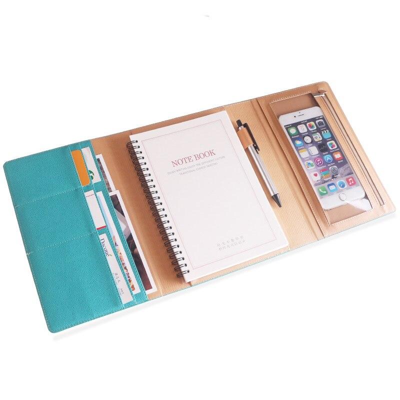 Di alta Qualità A5 A Spirale Notebook Business Office Blocchetto Per Appunti Meeting Diario Ufficiale Dono Loose-leaf Rilegato A Spirale Multifunzione