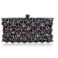 New Arrival Women Birthday Present Evening Bags Luxury Crystal Clutch Ladies Wedding Bag With Chain Party