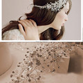 Latest Design Bridal Beads and Crystal Handmade Wedding Headdress