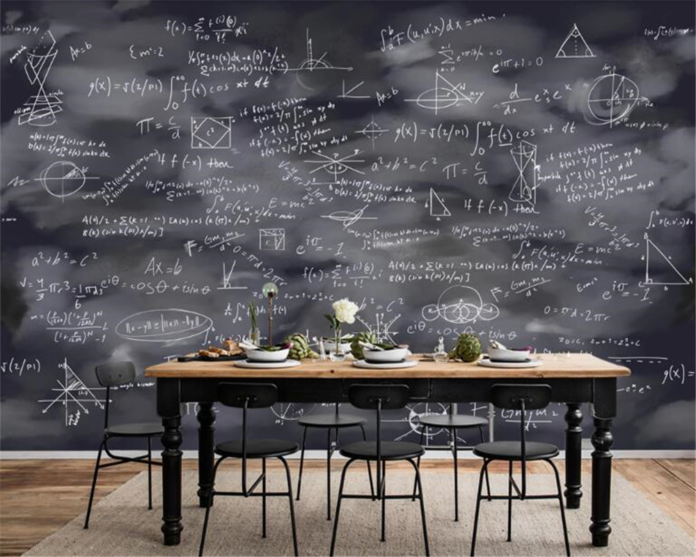 Beibehang 3d Wallpaper Custom Hand Drawn Learning Blackboard Drawing Chalk Fashion Creative Background Wall Papers Home Decor Wallpapers Aliexpress