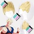 Son Goku peluca - Dragon Ball pelucas Son Goku peluca amarilla para hombre Dragon Ball Cosplay pelucas
