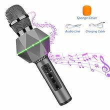 лучшая цена Bluetooth Karaoke Wireless Portable Singing Machine With Speaker For Party Home Ktv Outdoor Entertainment Player Meeting Stage