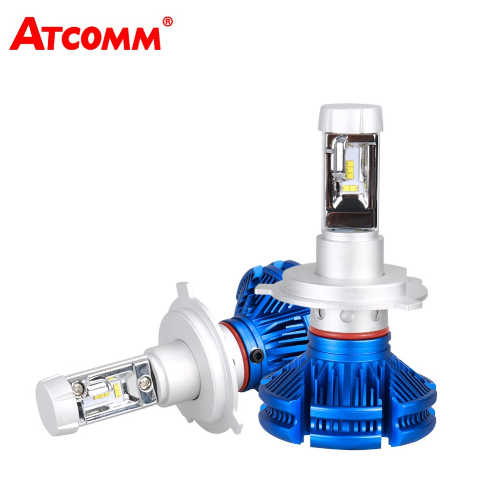 ATcomm LED H7 12000lm 12V 24V ZES Chip Car Bulb 6500K White 50W LED Lights Automobiles Carro Coche Truck Motorcycle Headlights