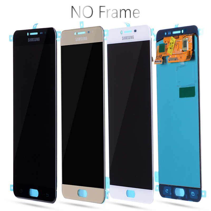 """Ban đầu năm 5.7 """"AMOLED LCD dành cho SAMSUNG Galaxy SAMSUNG Galaxy C7 MÀN HÌNH Hiển Thị LCD C7000 Bộ Số Hóa Cảm Ứng Thay Thế Cho Samsung C7 MÀN HÌNH LCD màn hình hiển thị"""