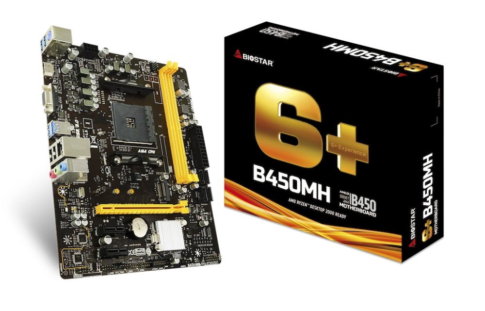 BIOSTAR B450MH motherboard <font><b>AMD</b></font> B450 Socket AM4 image