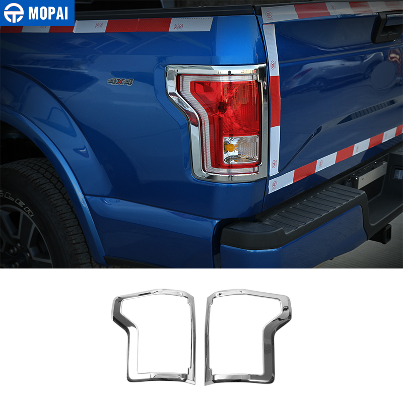 MOPAI Chromium Styling for Ford <font><b>F150</b></font> 2015 Up Car Rear Tail Light Lamp Decoration Cover Trim for Ford <font><b>F150</b></font> <font><b>Accessories</b></font> image