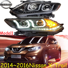 X-Trail headlight,2014~2016,(LHD,If RHD need add 200USD),Free ship! X-Trail fog light,2ps/se+2pcs Aozoom Ballast, x trail;xtrail