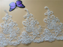 9Yards French Decorative Polyester Wholesale Wedding Embroidery Scallop Bridal Lace Trim Y06