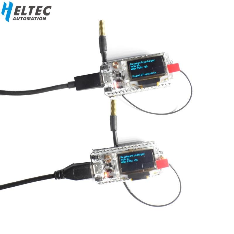 2PCS NEW 433MHZ SX1278 ESP32 LoRa 0 96 Inch Blue OLED Display Bluetooth WIFI Lora Kit