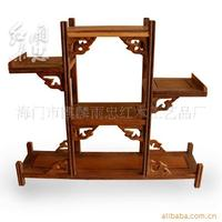 Supply high and two low level shelf Shelf height mahogany frame