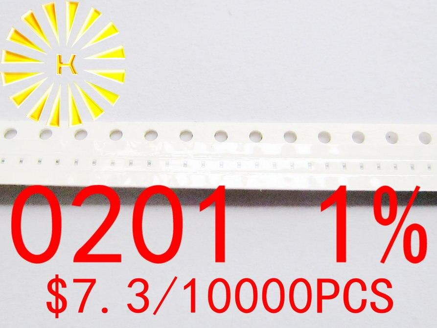 0201 1% Чип резисторы 1R-10M SMD резистор x 10000 шт