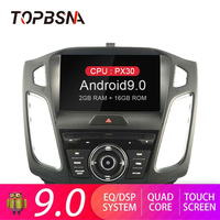 TOPBSNA Android 9.0 Car DVD Player for Ford Focus 2012 2013 2014 2015 2016 2017 Multimedia GPS Navi 1 din Car Radio Stereo WIFI