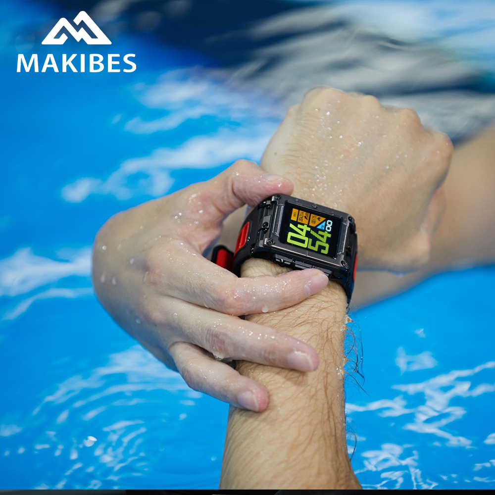 In stock Makibes G08 GPS Clock Compass Bluetooth Smart Watch IP68 Waterproof Heart Rate smart watches