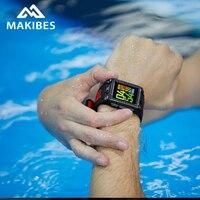 В наличии Makibes G08 часы GPS компас Bluetooth smart watch IP68 Водонепроницаемый сердечного ритма smart watch es мужские многофункциональные спортивные часы,