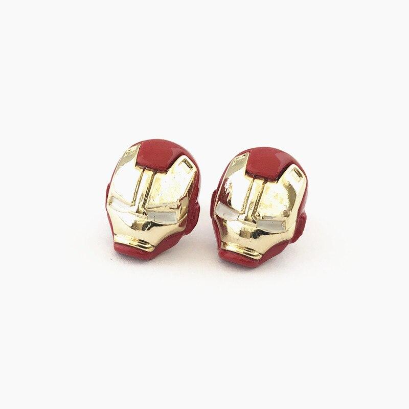 FANTASY UNIVERSE darmowa wysyłka 20 para dużo Iron man stadniny kolczyki DMMZSAS01 w Kolczyki z zapięciem typu sztyft od Biżuteria i akcesoria na  Grupa 2