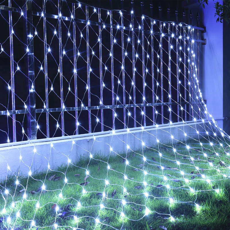 Led String Lights & Lighting Dhl Waterproof Mesh Net String Light 8mx10m Web 2600 Led Fairy Light For Christmas Wedding Party Xmas Outdoor Indoor Decoration