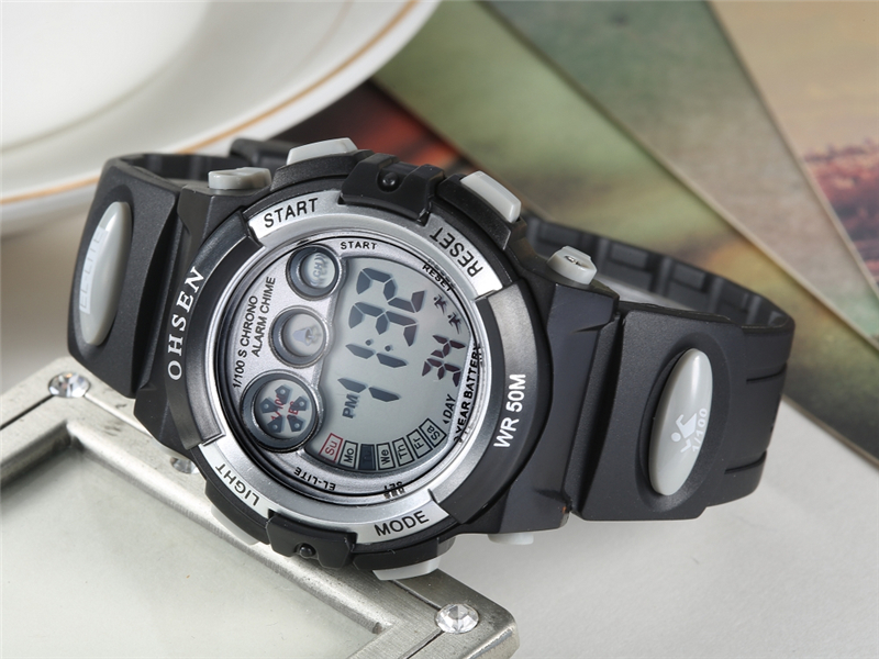 OHSEN Fashion Children Sports Watches Waterproof 5ATM Kids LED Digital Watch Student Outdoor Hand Electronic Clock Montre Femme (20)