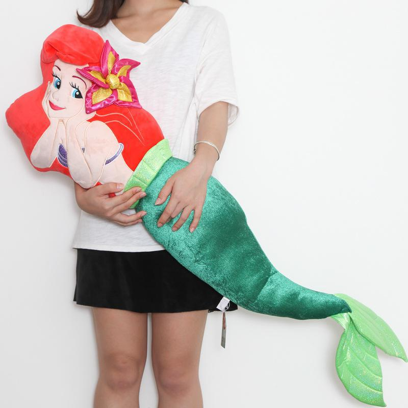 Big 1pcs 120cm The Little Mermaid Ariel Princess Plush Toy Cute Soft Stuff Doll Pillow Cushion Children Girls Birthday Gifts cute large toy big size 1pcs 100cm sheep plush toy alpaca doll soft stuffed animals pillow cushion kids toy girls birthday gifts