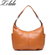 Zolala 100% Genuine Leather Bags Women Handbags Real Leather Tote Bag Top Layer Cowhide Shoulder Bags crossbody bags leather