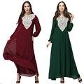Длинное Платье Мусульманские Арабский Шифон Полная Длина Женская Мода Платья платье платье-де-феста Макси Плюс Размер платья 3xl 4xl 5xl 6xl 7xl