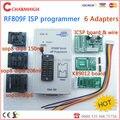 Offline placa KB9012 + VGA LCD ISP programador RT809F Programador ISP + cabo ICSP ICSP bordo + 4 Adaptadores 24-25-93 serise IC