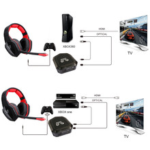 HUHD 7.1 Surround Sound Stereo headset 2.4Ghz Optical Wireless Gaming Headset headphone for PS4/3 XBox 360/one PC TV earphones