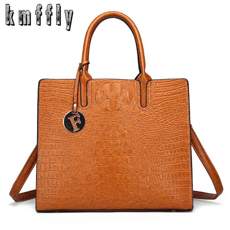 984644474ffc 2018 Аллигатор кожаные сумочки большой для женщин Сумка Высокое качество  Повседневная Женская обувь сумки Trunk Tote