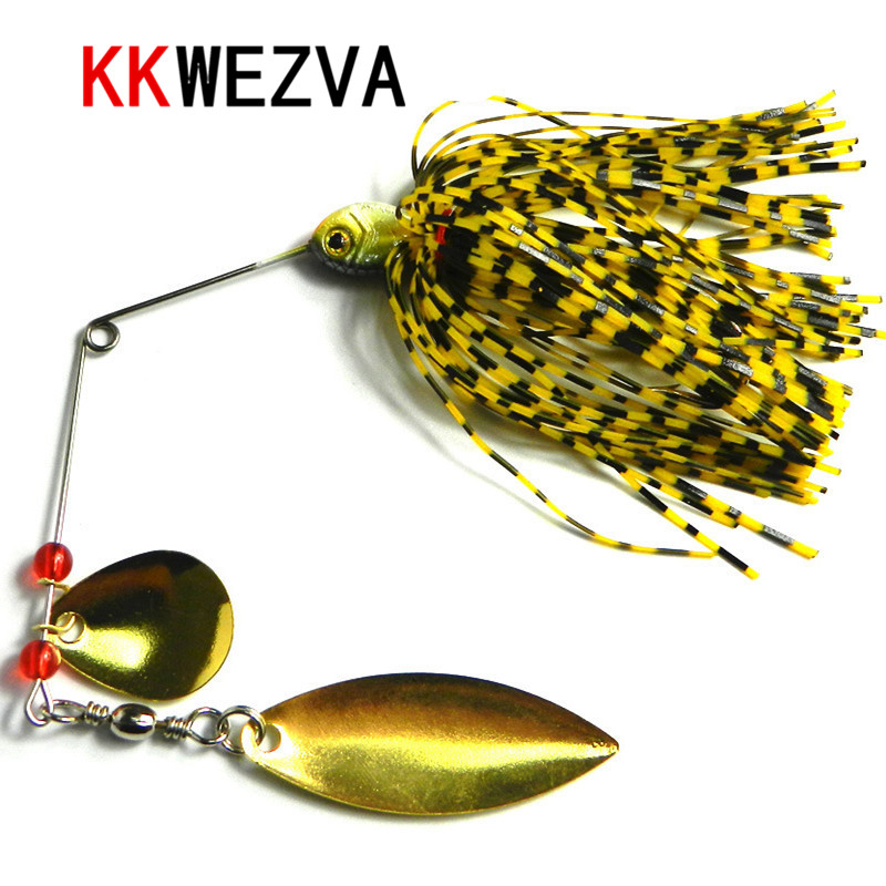 KKWEZVA 1pc 15g freshwater fishing lure Beard hook bait buzz bait lure soft lure jig soft hook Softcover paillette worm lure