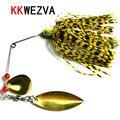 KKWEZVA 1pc 15g freshwater fishing lure Beard hook bait buzz bait lure soft lure jig soft hook Softcover paillette worm lure