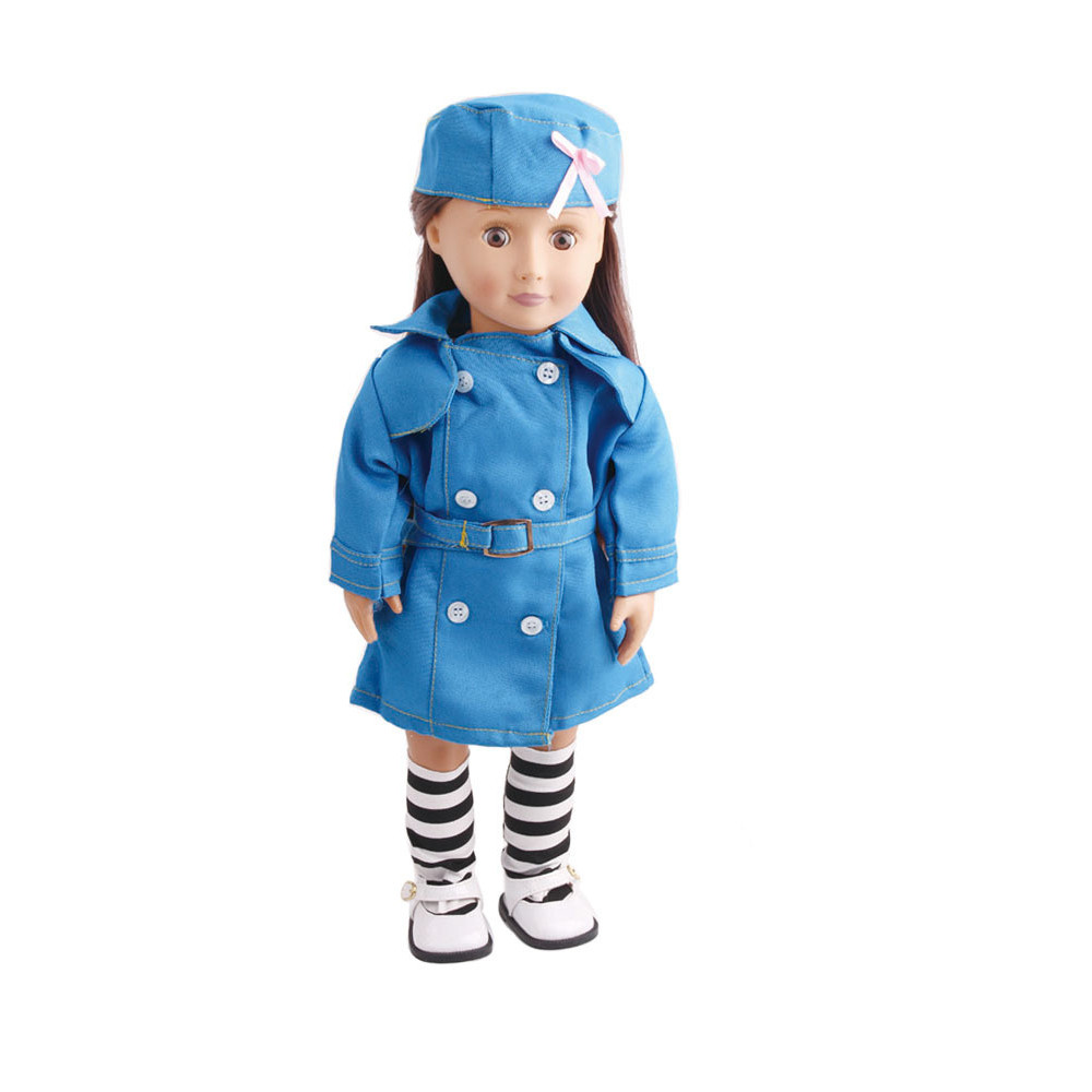 Hot sale high quality 3PC Doll Clothes Work Uniform With Hats And Socks For 18 Inch American Girl Doll18jan16