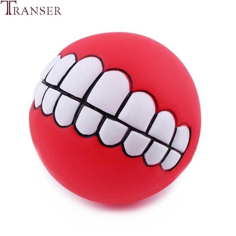 Transer товар для животных Смешные зубы резиновая игрушка мяч для собаки пищащие игрушки-Жвачки для маленькой большой собаки 80130