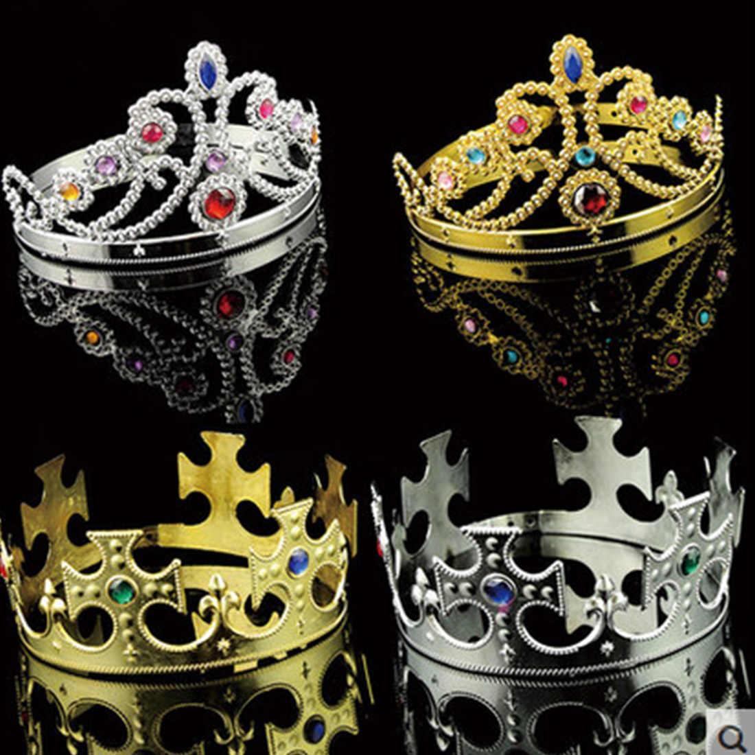 良い品質キング女王プリンセスティアラクリスタルクラウンヘアバンドhairwear用パーティー子供のため、女の子、男の子ヘアアクセサリー