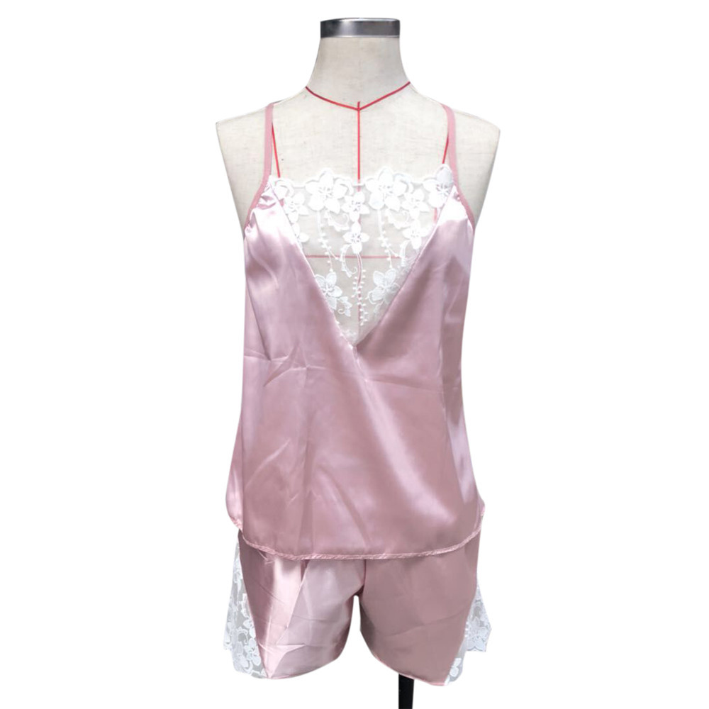 2PC Lingerie Women Lace Babydoll Nightdress Nightgown Sleepwear Underwear Set Free Ship #Z5