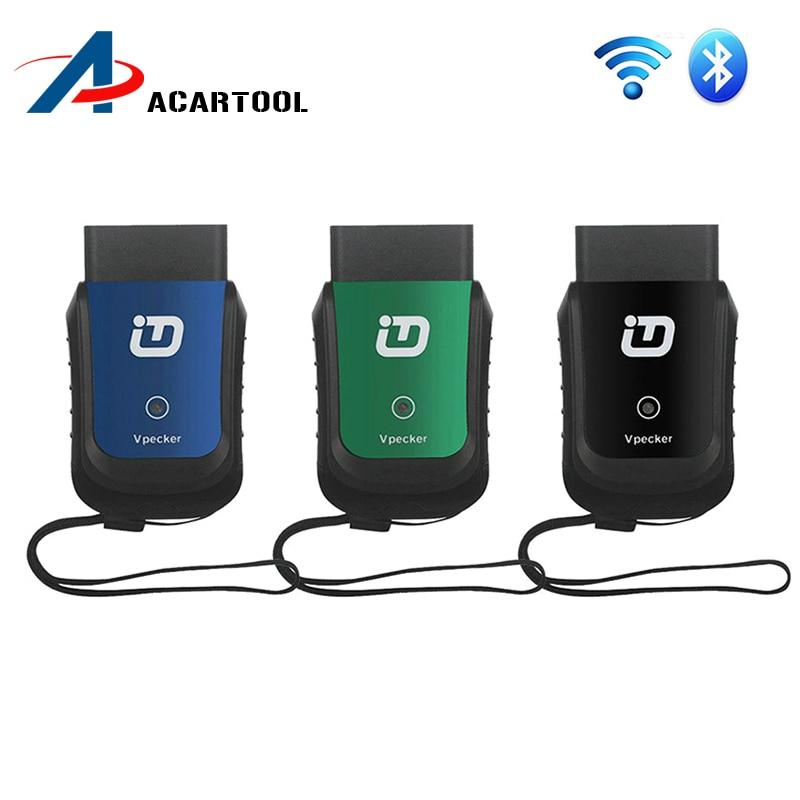 Цена за Автомобиля Диагностический Инструмент Vpecker EasyDiag V8.5 Wi-Fi/Bluetooth OBD2 16pin Полный Системы Автомобильной Сканер для Америки, Европы, азии автомобили