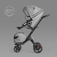 Baby stroller high landscape stroller can sit reclining folding shock absorber four wheel baby stroller shock absorber PU wheel