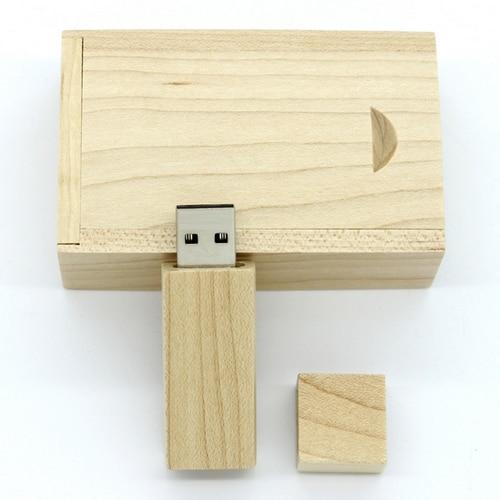 100% reālā jauda 4/8/16/32/64 Unikāla koka USB zibatmiņas diska atmiņas karte / Pendrive / dāvana ar koka kārbu kastīti 128GB 1TB 2TB 2.0