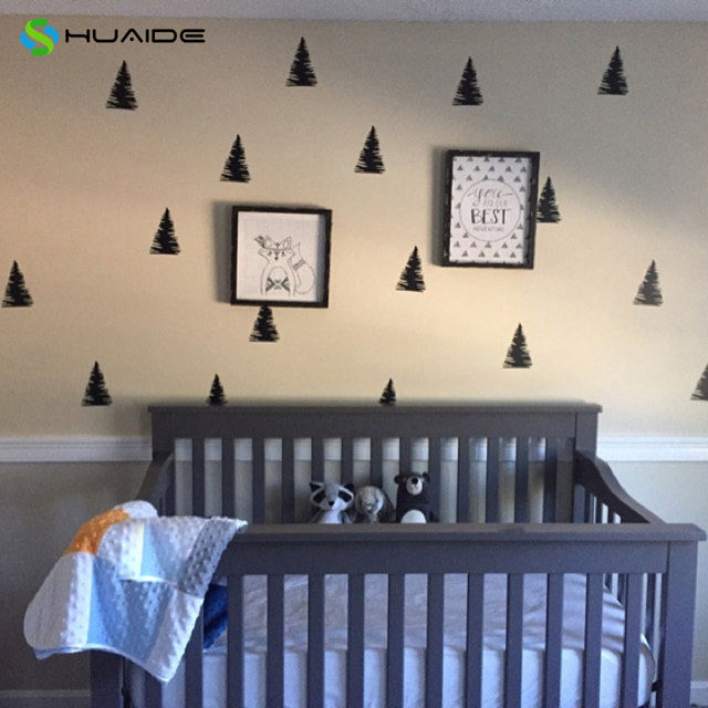 diy pine tree wall decals vinyl wall sticker for kids room baby