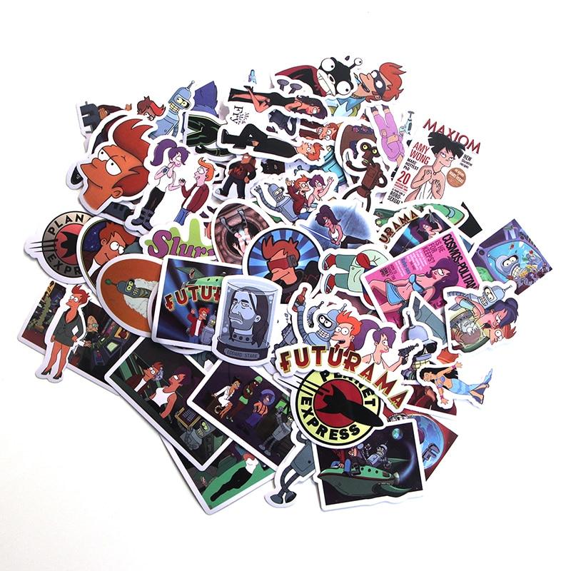 Puntual Pathfan 69 Piezas Futurama Calcomanías Divertidas Juguetes Para Chico Diy Pvc Pegatina De Dibujos Animados Impermeable Para álbum De Recortes Pegatinas De Guitarra A1493