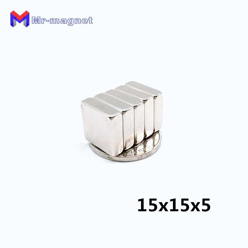 Hardware Nett 70 Stücke 15x15x5mm Permanant Rare Earth Neodym Magnet König Größe 15*15*5mm Lieferant 15x15x5 Seien Sie Freundlich Im Gebrauch Magnetische Materialien