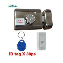 Elektryczne drzwi zamknięcie do bramy z RFID hasło klawiatura kontroli otworzyć i zamknąć inteligentny zamek drzwi antywłamaniowe + dzwonek do drzwi przycisk wyjścia
