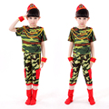 Military Uniform Child Camouflage Long-sleeved Performance Clothing Stage Costume Dance Primary Middle School Students Uniform