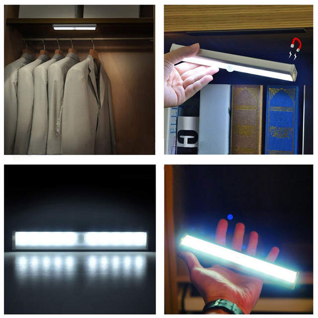 Wiederaufladbare/Batterie Bewegungssensor Led nachtlicht ...