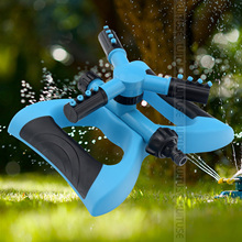 זול מתכוונן נייד אוטומטי 360 תואר מסתובב תרסיס גן דשא ממטרה פרק גן דשא אוטומטית מים ממטרה
