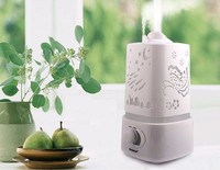 110 220v Aromatherapy Air Humidifier Fogger LED Night Light With Carve Aroma Diffuser Mist Maker Diffuser