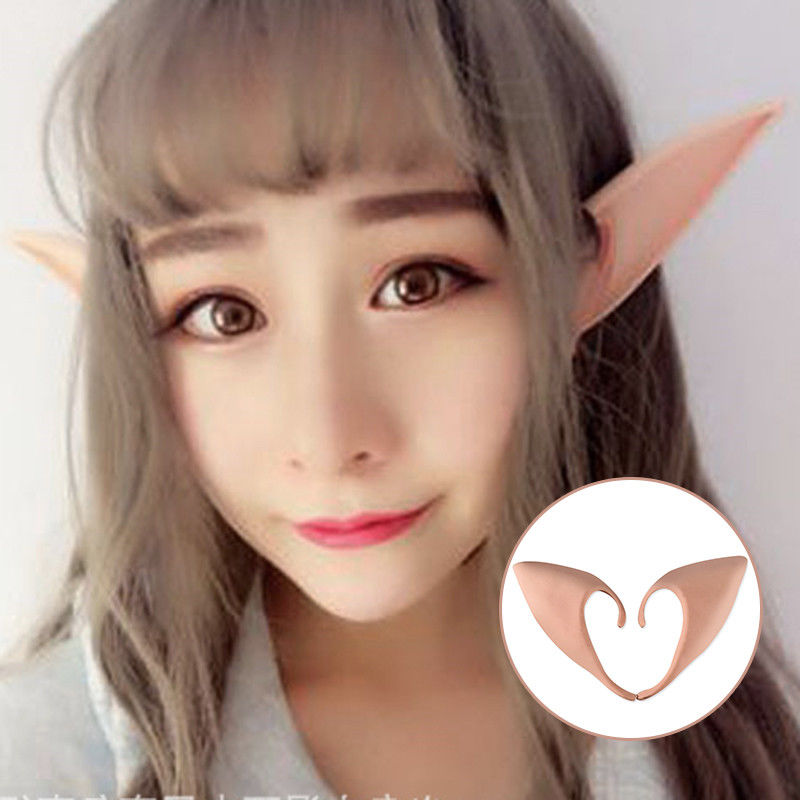 Halloween Party Mysterious Angel Elf Ears fairy ears Cosplay Accessories Latex Soft Pointed False