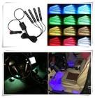 4pcs/et 7 Color LED Car Interior Lighting For audi Volkswagen jetta Polo passat Golf for Solaris ford focus sticker Accessories
