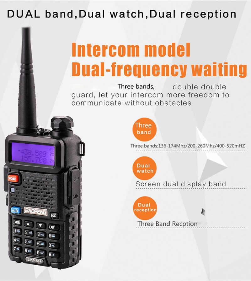 2018 NEW BaoFeng UV-5R Three bands 136-174/200-260/400-520 walkie talkie 10 km For Two Way radio Station vhf uhf mobile radio