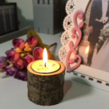 Wooden Candlestick Candle Holder