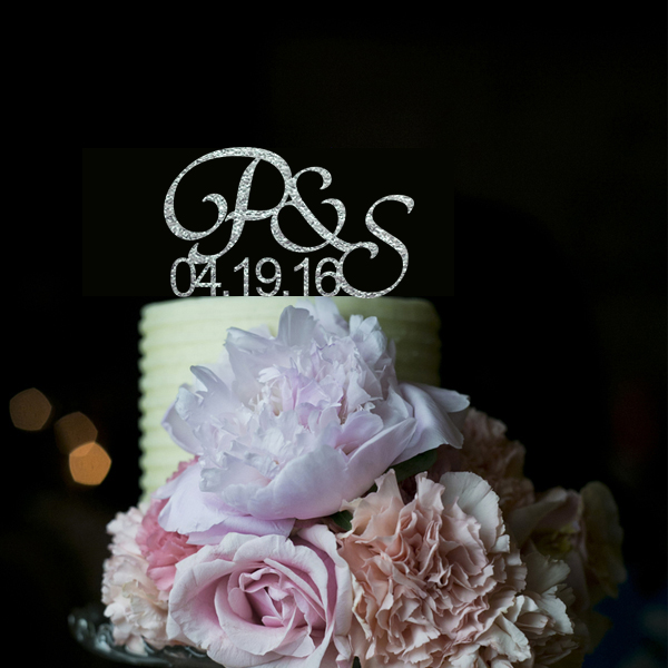 Acrylic Wedding Decoration Custom Cake Toppers Initials Cake Toppers